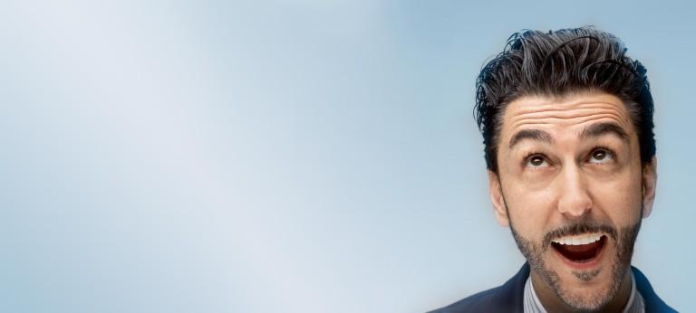 Hyperloop Transportation Technologies chairman Bibop Gresta looks up with an open smile